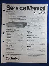 Technics SH-VE10 AV Processor Service Manual Factory Original The Real Thing
