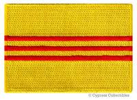 SOUTH VIETNAM FLAG embroidered iron-on PATCH REPUBLIC EMBLEM APPLIQUE SAIGON new