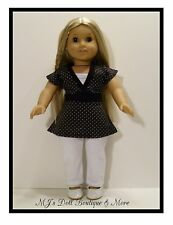 Black Polka Dot Top & Leggings Set American Girl Doll