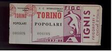 calcio-football Biglietto ingresso stadio  Torino 1957/58