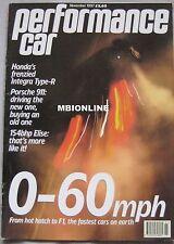 Performance Car 11/1997 featuring Honda Type-R, Pontiac, Bentley, Porsche, Lotus