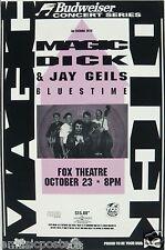 MAGIC DICK / JAY GEILS 1995 DENVER CONCERT TOUR POSTER -Blues Music