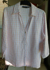 Linen Button Down Shirt Machine Washable Regular Tops & Blouses for Women