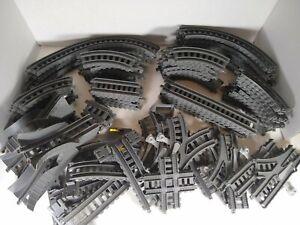 Lot of 86 Thomas & Friends Dark Gray Trackmaster Train Tracks Curved Straight