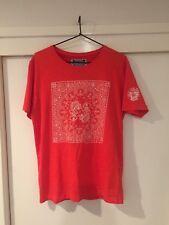 Tokyo Tigers Men's Orange Graphic Print Paisley T Shirt Size S Good Condition