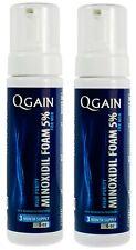 2 X Qgain MINOXIDIL FOAM 5% For MEN 6 month supply 2 X 180mL bottle