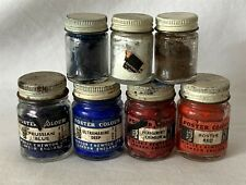 4 Large WINSOR NEWTON DRIED Poster Colours + 3 Other Pots ALL DRY PAINT