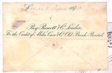 C60 1878 GB banca * Bristol * Cubierta temprano privado Banco Envolvente GB Pts