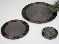 Untersetzer Platzset rund aus Perlen Hand gefertigt verschiedene Größen & Farben