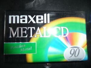 Maxell Metal CD90 blank cassette tape (new, sealed)