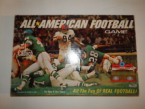 Vintage Cadaco All American Football Game no. 228 Complete 1969 Sports R19412
