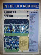 Rangers 2 Celtic 2 - 2016 Scottish Cup semi-final - souvenir print