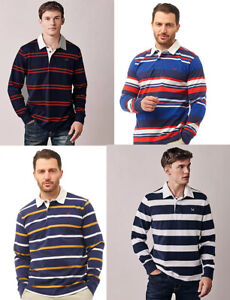 Crew Clothing Men Long Sleeve Jersey Ruggers Striped Polo Shirt top Rugby shirt