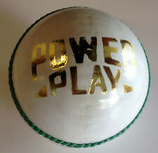 White Leather Cricket Ball - PowerPlay