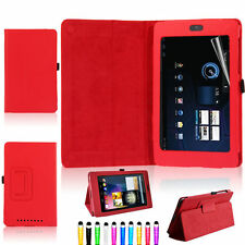 Red Leather Case Cover for Asus Google Nexus 7 1st  Gen Tablet 2012