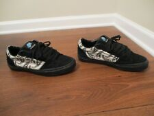 Used Worn Size 9.5 Vans Omar Hassan La Cripta Dos Skateboard Shoes Black White