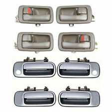 92-96 For Toyota Camry Brown Inside Set 4 /& Silver Outside Door Handle DS44