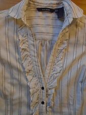 Zara Waist Length Blouses Striped Tops & Shirts for Women