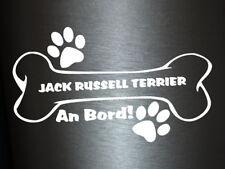 1 x Plott Aufkleber Hundeknochen Jack Russell Terrier An Bord Pfote Hund Dog