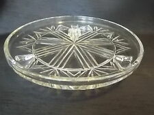 Vintage Antique Collectable Retro Pressed Glass Footed Cake Stand