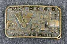 Vintage Western Crude Oil Inc. Safety Achievement Jostens Belt Buckle