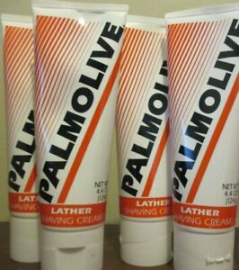 Lot of 4 PALMOLIVE LATHER SHAVING CREAM 4.4 OZ / 124 g