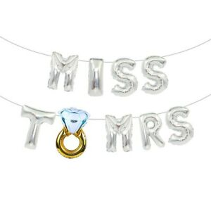 1set Miss To Mrs Foil Balloon Team Bride To Be Hen Bachelorette Party Supply