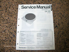 Original Factory Technics/Panasonic SP-25 (M)(MC) Turntable Service Manual