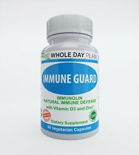 IMMUNE GUARD - Natural Immune Booster Immunolin, Vitamin D3, Zinc, Ellagic