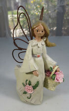 Angel Accents January Pink Carnation Unfading Beauty Figurine by Roman Inc