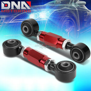 FOR 88-00 CIVIC/CRX/DEL SOL/DC RED ADJUSTABLE REAR LOWER TOE CONTROL ARM/BAR