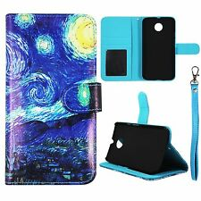 Starry Artistic For Motorola Moto X X2 2nd Gen Fit 2014 Flip Wallet Leather Case