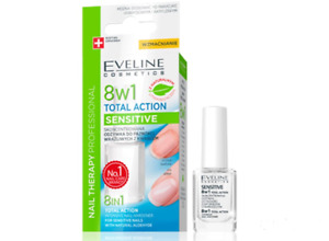 EVELINE 8IN1 INTENSIVE NAIL HARDENER FOR SENSITIVE NAILS WITH NATURURAL ALDEHYDE