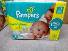 Pampers Swaddlers Disposable Diapers Newborn/Size 1 8-14 lb 198 Count
