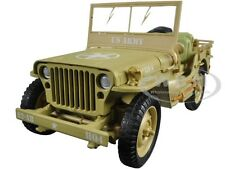 US ARMY WWII JEEP VEHICLE DESERT COLOR 1/18 MODEL CAR BY AMERICAN DIORAMA 77408