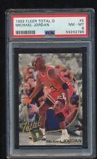 PSA 8   1992 Fleer Total D  Michael Jordan  # 5    Just back from PSA