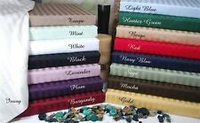 STRIPED SHEET SET ALL COLORS & SIZES 1000 THREAD COUNT EGYPTIAN COTTON