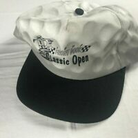 Front Door Golf Snapback VTG 1998 Hat Classic Open Cap Gray Black Golfer Funny