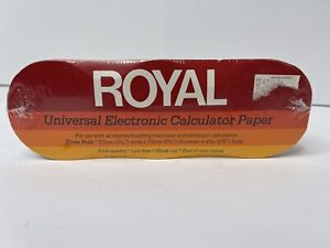 Royal Universal Electronic Calculator Paper 3 Rolls NEW SEALED Free Shipping
