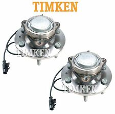 For Cadillac Chevrolet GMC RWD Pair Set of 2 Front Wheel Bearings Hubs Timken