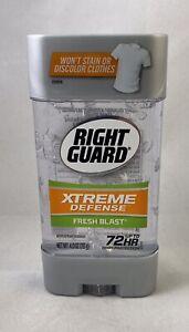 Right Guard Xtreme Defense Antiperspirant Deodorant Gel Fresh Blast 4 oz