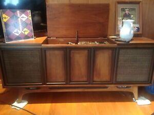 sears silvertone console stereo.