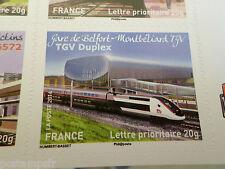 FRANCE 2014, timbre AUTOADHESIF TRAIN, TGV DUPLEX neuf**, VF MNH STAMP