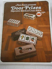 1980 Door Prizes Slipcover Bricks in Cross Stitch Pattern Book Bless This House