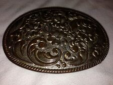 Chambers Silver Plated Belt Buckle Made Usa