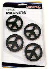 LockerMate Magnets 4 Pack Black Peace Sign School Locker Kids Teens Home New