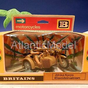 Britains 1/32 Africa Corps German BMW Motorcycle with crew Metal in box