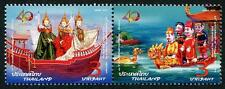 Boats se-tenant pair mnh 2016 Thailand Diplomatic relations with Vietnam