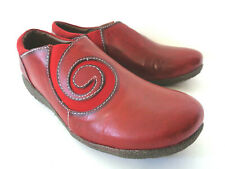 SPRING STEP L'ARTISTE Uno EUR 38 US 7.5M 8M Red Leather Slip on Swirl Shoes