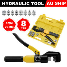 8 Ton Hydraulic Wire Crimper 9 Dies Lug Cable Force Crimping Tool Kit 4-70mm AU
